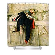 L'enfant Du Regiment Shower Curtain by Sir John Everett Millais