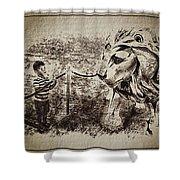 L'enfant Et Le Lion  Shower Curtain