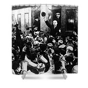 Lenin At Finland Station Shower Curtain