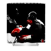 Lennox Lewis And Evander Holyfield  Shower Curtain