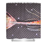 Lenny The Lipster Fish Shower Curtain