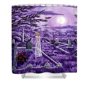 Lenore In Lavender Moonlight Shower Curtain