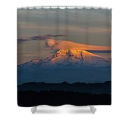 Lenticular Clouds Over Mount Hood Shower Curtain