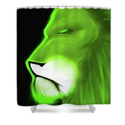Leo Profile- Lime Shower Curtain