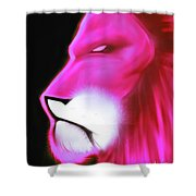 Leo Profile- Radiant Hot Pink Shower Curtain