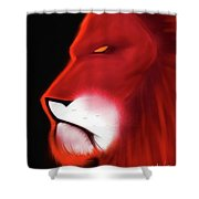 Leo Profile- Red Shower Curtain
