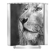 Leo The King Shower Curtain