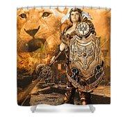 Leona Lioness Warrior  Shower Curtain