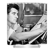 Leonard Bernstein, American Composer Shower Curtain