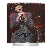 Leonard Cohen Autographed Shower Curtain