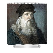Leonardo Da Vinci - To License For Professional Use Visit Granger.com Shower Curtain