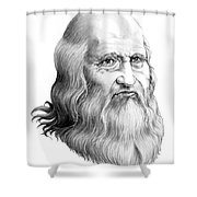 Leonardo Da Vinci Shower Curtain
