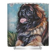 Leonberger Art Print Shower Curtain