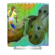 Leonidas And Soccer Shoes Shower Curtain