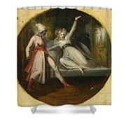 Leonore Discovering The Dagger Left By Alonzo Shower Curtain