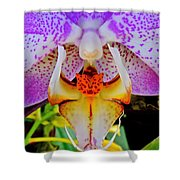 Leopard Dragon Orchid Shower Curtain