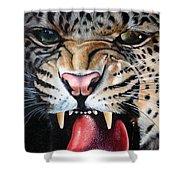 Leopard Face Shower Curtain