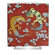 Leopard Geckos Shower Curtain