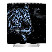 Leopard In The Darkness.  Shower Curtain