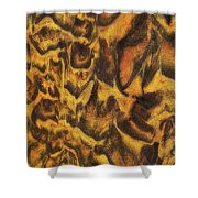 Leopard In The Sand Shower Curtain