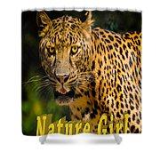 Leopard Nature Girl Shower Curtain