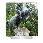 Leopold Statue Shower Curtain