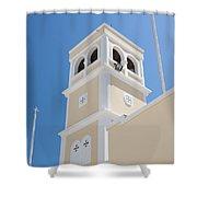 Lerapetra Church Steeple Shower Curtain