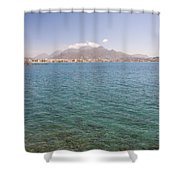 Lerapetra From Across The Bay Shower Curtain