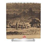 Les Anes De La Butte-aux-cailles (donkeys At La Butte-aux-cailles) Shower Curtain