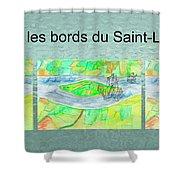 C'est Sur Les Bords Du Saint-laurent Mug Shot Shower Curtain