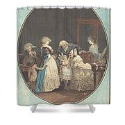 Les Bouquets, Ou La Fete De La Grand'maman Shower Curtain