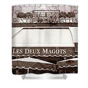 Les Deux Magots - #2 Shower Curtain