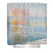 Les Glacons. Bennecourt Shower Curtain