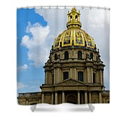 Les Invalides Shower Curtain