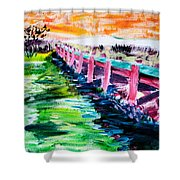 Les Orpellieres Shower Curtain