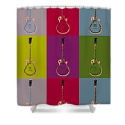 Les Paul Colorful Poster Shower Curtain
