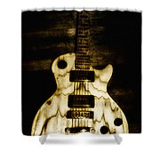Les Paul Guitar Shower Curtain by Bill Cannon