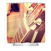 Les Paul Guitar Shower Curtain