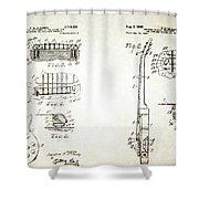 Les Paul Guitar Patent 1955 Shower Curtain