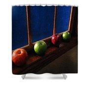 Les Pommes De La Lune Shower Curtain