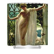 Lesbia Shower Curtain by John Reinhard Weguelin