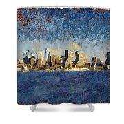 Less Wacky Philly Skyline Shower Curtain