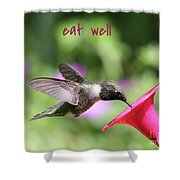 Lessons From Nature - Eat Well Shower Curtain