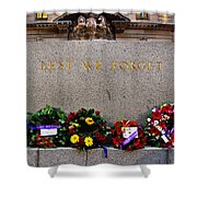 Lest We Forget War Memorial Martin Place Shower Curtain