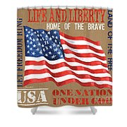 Let Freedom Ring Shower Curtain