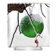 Let It Snow Christmas Ornament Shower Curtain