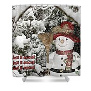Let It Snow Let It Snow Let It Snow Shower Curtain