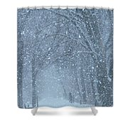 Let It Snow Shower Curtain by Lori Frisch
