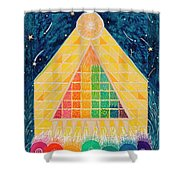 Let Light Stream Forth Shower Curtain