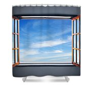 Let The Blue Sky In Shower Curtain
